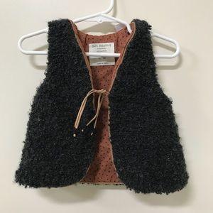 Zara Baby Black Shearling Vest